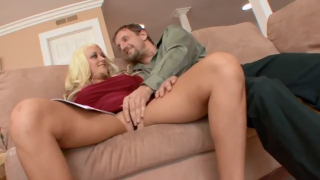 Blonde slut will fuck anyone